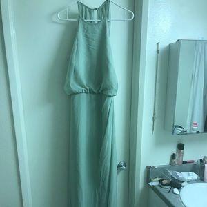 Azazie Portia Dusty Sage Bridesmaid Dress